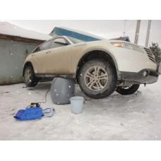 Пневмодомкрат автомобильный от компрессора 2.4  тонны Морозостойкий